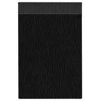 H. Risch Inc. MMB-BIS-GBK Bistro Glean 8 1/2 inch x 14 inch Black Single View Hardback Magnetic Menu Board