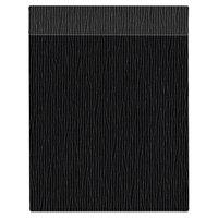 H. Risch Inc. MMB-BIS-GBK Bistro Glean 8 1/2 inch x 11 inch Black Single View Hardback Magnetic Menu Board