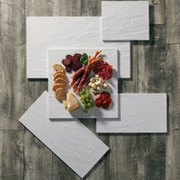 American Metalcraft FSLW14 14 1/2 inch Square White Faux Slate Melamine Platter