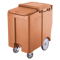 Cambro ICS175TB157 SlidingLid™ Coffee Beige Portable Ice Bin - 175 lb. Capacity Tall Model