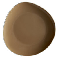 Schonwald 9381215-63013 WellCome 6 1/8 inch Beige Flat Coupe Porcelain Organic Plate - 12/Case