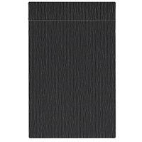 H. Risch Inc. MMB-BIS-GBK Bistro Glean 11 inch x 17 inch Black Single View Hardback Magnetic Menu Board