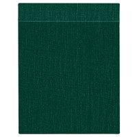 H. Risch Inc. MMB-BIS-GR Bistro Linen 5 1/2 inch x 8 1/2 inch Green Single View Hardback Magnetic Menu Board