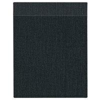 H. Risch Inc. MMB-BIS-BK Bistro Linen 8 1/2 inch x 11 inch Black Single View Hardback Magnetic Menu Board