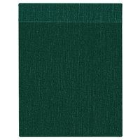 H. Risch Inc. MMB-BIS-GR Bistro Linen 8 1/2 inch x 11 inch Green Single View Hardback Magnetic Menu Board