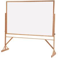 Quartet WMR406 72 inch x 48 inch Reversible Melamine Whiteboard Easel with Hardwood Frame