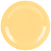 GET NP-10-TY Diamond Mardi Gras 10 1/2 inch Tropical Yellow Narrow Rim Round Melamine Plate - 12/Case