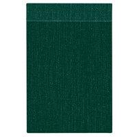 H. Risch Inc. MMB-BIS-GR Bistro Linen 4 1/4 inch x 14 inch Green Single View Hardback Magnetic Menu Board