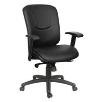 Alera ALEEN4219 Eon Series Mid-Back Black Leather Synchro-Seat Office Chair