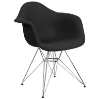 Flash Furniture FH-132-CCV1-FC01-GG Alonza Black Fabric Chair with Chrome Base