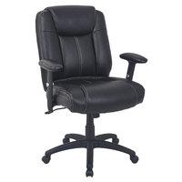 Alera ALECC4219 CC Series Mid-Back Black Leather Executive Swivel / Tilt Office Chair