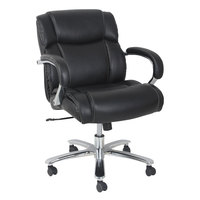 Alera ALEMS4619 Maxxis Series 350 lb. Capacity Black Leather Big and Tall Office Chair