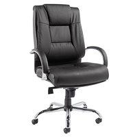 Alera ALERV44LS10C Ravino High-Back Black Leather Big and Tall Swivel / Tilt Office Chair