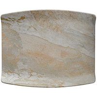 Elite Global Solutions B1211RC-SDST Santiago 12 7/8 inch x 10 1/2 inch Sandstone Rectangular Tray - 6/Case