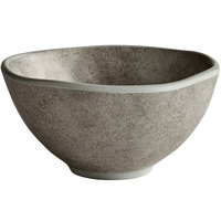 Elite Global Solutions B4582-SVST Santiago 9 oz. Round Silverstone Bowl - 6/Case