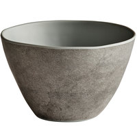 Elite Global Solutions B3756-SVST Santiago 32 oz. Round Silverstone Bowl - 6/Case