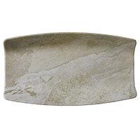 Elite Global Solutions B1271RC-SDST Santiago 12 7/8 inch x 7 inch Sandstone Rectangular Tray - 6/Case