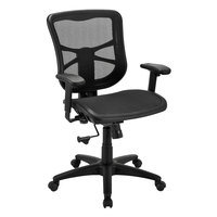 Alera ALEEL42B18 Elusion Series Mid-Back Black Air Mesh Swivel / Tilt Office Chair