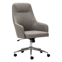 Alera ALECS4151 Captain Series High-Back Gray Tweed Office Chair