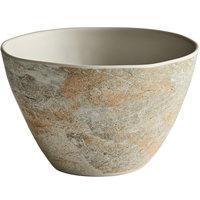 Elite Global Solutions B3756-SDST Santiago 32 oz. Round Sandstone Bowl - 6/Case
