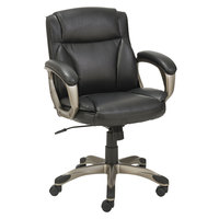 Alera ALEVN6119 Veon Series Low-Back Black Leather Executive Chair with Coil Spring Cushioning