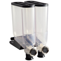 Rosseto (2) 13.3 Liter Canister Snack / Cereal Dispensers with Shelf Mount Kit and Strip