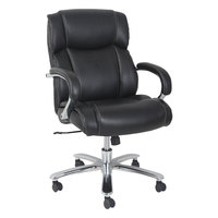 Alera ALEMS4519 Maxxis Series 450 lb. Capacity Black Leather Big and Tall Office Chair