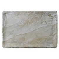 Elite Global Solutions B117RC-SDST Santiago 11 7/8 inch x 7 7/8 inch Sandstone Rectangular Tray - 6/Case