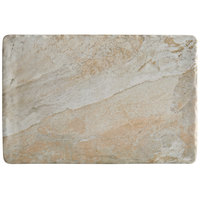 Elite Global Solutions B117RC-SDST Santiago 11 7/8 inch x 7 7/8 inch Sandstone Rectangular Tray - 6/Case