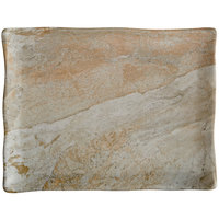 Elite Global Solutions B1181RC-SDST Santiago 11 inch x 8 3/8 inch Sandstone Rectangular Tray - 6/Case