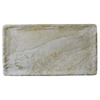 Elite Global Solutions B1275RC-SDST Santiago 12 3/4 inch x 7 inch x 5/8 inch Sandstone Rectangular Tray - 6/Case