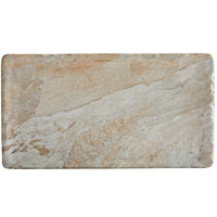 Elite Global Solutions B1275RC-SDST Santiago 12 3/4 inch x 7 inch Sandstone Rectangular Tray - 6/Case