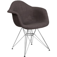 Flash Furniture FH-132-CCV1-FC100-GG Alonza Gray Fabric Chair with Chrome Base