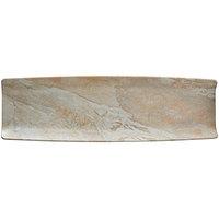 Elite Global Solutions B2061RC-SDST Santiago 20 3/4 inch x 6 3/8 inch Sandstone Rectangular Tray - 6/Case