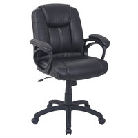 Alera ALECC4219F CC Series Mid-Back Black Leather Executive Office Chair
