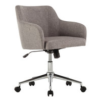 Alera ALECS4251 Captain Series Mid-Back Gray Tweed Office Chair