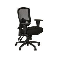Alera ALEET4217 Etros Series Mid-Back Black Mesh Multifunction Office Chair