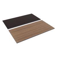 Alera ALETT6030EW 60 inch x 30 inch Espresso / Walnut Rectangular Reversible Laminate Table Top