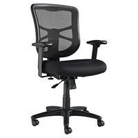 Alera ALEEL42BME10B Elusion Series Mid-Back Black Mesh Swivel / Tilt Chair