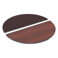 Alera ALETTHR48CM 48 inch Cherry / Mahogany Half Round Reversible Laminate Table Top