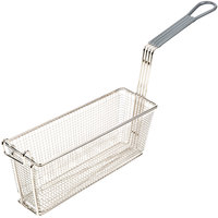 13 inch x 4 1/4 inch x 4 1/2 inch Triple Fryer Basket with Front Hook