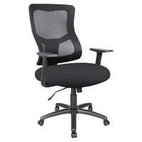Alera ALEELT4214B Elusion II Series Mid-Back Black Mesh Swivel / Tilt Chair