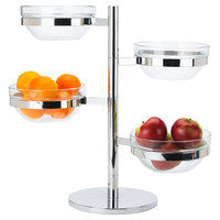 Stainless Steel 4 Tier Swing Arm Glass Bowl Display Set