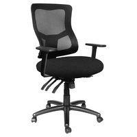 Alera ALEELT4214M Elusion II Series Mid-Back Black Mesh Multifunction Office Chair
