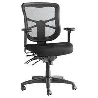 Alera ALEEL42ME10B Elusion Series Mid-Back Black Mesh Multifunction Swivel / Tilt Chair