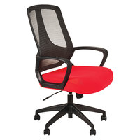 Alera ALEMB4738 MB Series Mid-Back Red / Black Mesh Office Chair