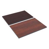 Alera ALETT3624CM 36 inch x 24 inch Cherry / Mahogany Rectangular Reversible Laminate Table Top