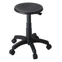 Safco 5100 Black Office Stool with Casters