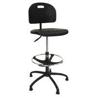 ShopSol 1010275 SSX Black Polyurethane Swivel Shop Chair