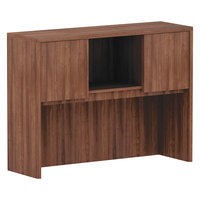 Alera ALEVA284815WA Valencia Walnut 3 Compartment Bookcase Hutch - 48 inch x 35 1/2 inch x 15 inch